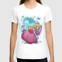princess peach T-shirts featuring Princess Peach by PastaSaladBowl
