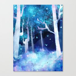 Forest of Fireflies Canvas Print