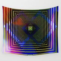 square Wall Tapestries featuring Square by Mr & Mrs Quirynen