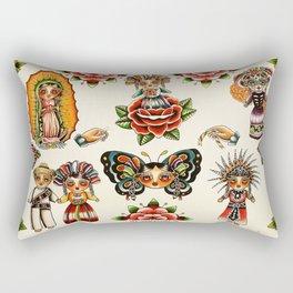 Mexican Dolls Flash Prints Rectangular Pillow