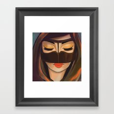 Burqa Beauty Framed Art Print