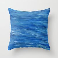 west coast Throw Pillows featuring West Coast by Hangin Fin