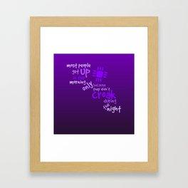 Croak-Purple Framed Art Print