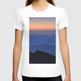 Sierra Nevada. Sunset at the mountains. Astronomical Observatory at 3000 meters T-shirt
