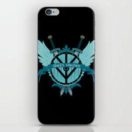 Shield Maiden Winged Teal Viking Shield iPhone Skin