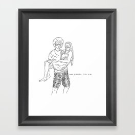 A sensible life they live Framed Art Print