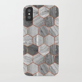 Marble Hexagons iPhone Case