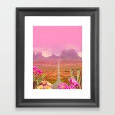 Road landscape Framed Art Print