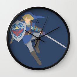 Link(Smash)Blue Wall Clock