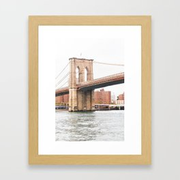 298. Hudson and Brooklyn Bridge, New York Framed Art Print