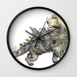 Independent leopard as a symbol of Kazakhstan Wall Clock