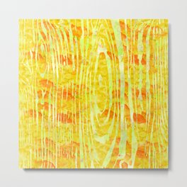 Yellow Wood Print Metal Print