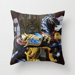 Merry Go Round - Montecatini Terme , Italy Throw Pillow