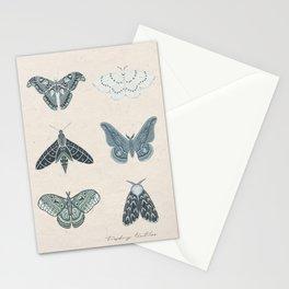 Six Moth Print Stationery Cards