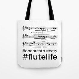 #flutelife #easy Tote Bag