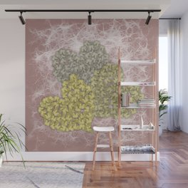 Fading butterfly hearts Wall Mural