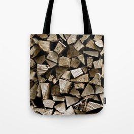 firewood pattern Tote Bag