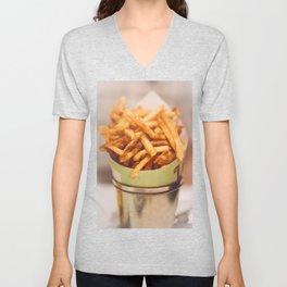 Fries in French Quarter, New Orleans Unisex V-Neck