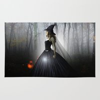 witch Area & Throw Rugs featuring Witch by Julie Hoddinott