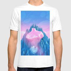 Mount Venus White Mens Fitted Tee MEDIUM