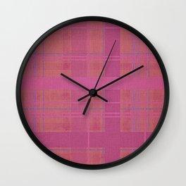 pink madras Wall Clock
