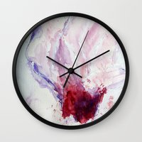 magnolia Wall Clocks featuring Magnolia by Kay Weber
