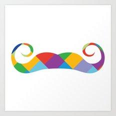 mustache ambassadors Art Print