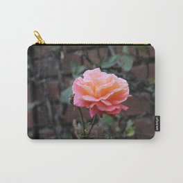 Pink & Peach Blooming Rose Carry-All Pouch
