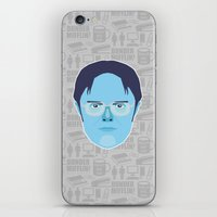 dwight schrute iPhone & iPod Skins featuring Dwight Schrute - The Office by Kuki