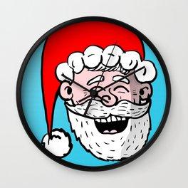 Laughing Santa Wall Clock