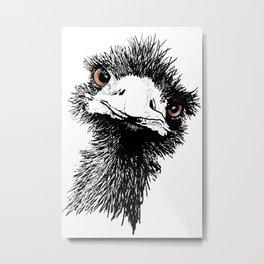 Emu - Pen and Ink Metal Print
