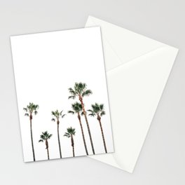 Palm Trees on the Coast White  Stationery Cards