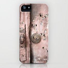 Pink Rusty Door iPhone Case