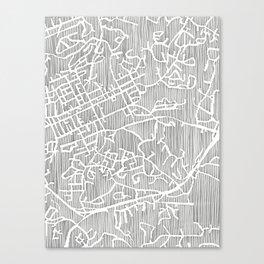 chapel hill city print Canvas Print
