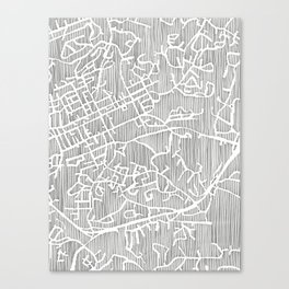 chapel hill city print Canvas Print