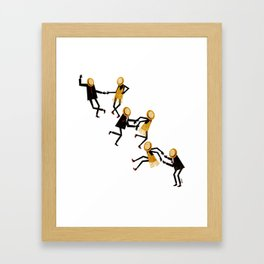 Lindy Hop Dancers Framed Art Print