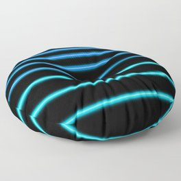 Turquoise to Blue Neon Floor Pillow
