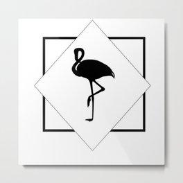 Geo Flamingo Metal Print