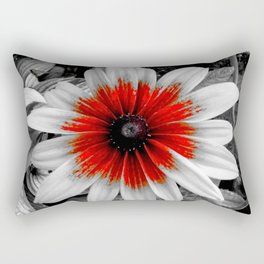 Flower | Flowers | Red Stroke Gaillardia | Red and White Flower | Nadia Bonello Rectangular Pillow