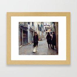 John Singer Sargent Street in Venice Framed Art Print