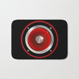 Red Speaker Cone Bath Mat