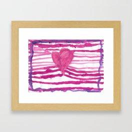 Heart waves Framed Art Print