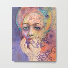 Queen Arabela with Blue eyes Metal Print