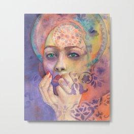 Portrait of Queen Arabela with Blue eyes Metal Print