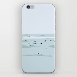 Tiny Surfers in Lima Illustrated iPhone Skin