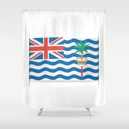 Flag of British Indian Ocean Territory. The slit in the paper with shadows. Shower Curtain