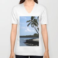 palms V-neck T-shirts featuring Palms by Whitebird Photography
