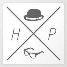Hat and Glasses Art Print