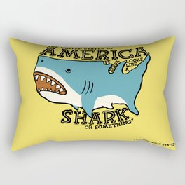 America…   it kinda looks like a shark or something Rectangular Pillow