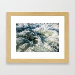 Choppy Water Framed Art Print